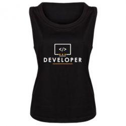 Женская майка Developer