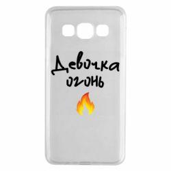 Чехол для Samsung A3 2015 Девочка огонь