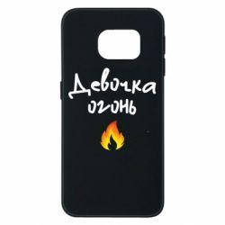Чехол для Samsung S6 EDGE Девочка огонь