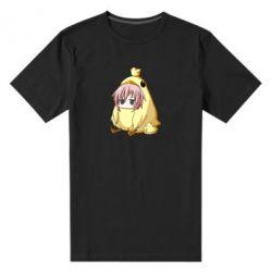 Чоловіча стрейчева футболка Дівчинка з курчам