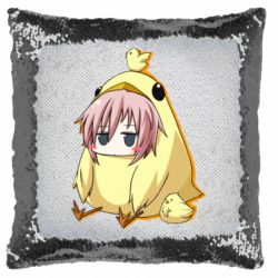 Подушка-хамелеон Дівчинка з курчам
