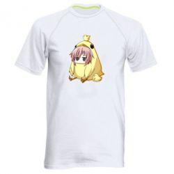 Чоловіча спортивна футболка Дівчинка з курчам