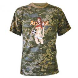 Камуфляжная футболка Девушка Арсенал