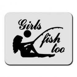 Коврик для мыши Девушки тоже рыбачат - FatLine