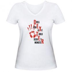 Женская футболка с V-образным вырезом Dexter