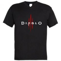 Мужская футболка  с V-образным вырезом Diablo 3