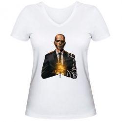 Женская футболка с V-образным вырезом Diablo Suicidd Squad - FatLine