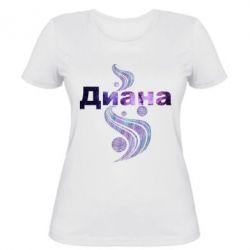Женская футболка Диана