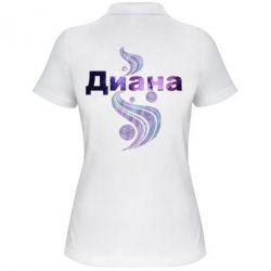 Женская футболка поло Диана