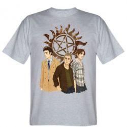 Мужская футболка Дин, Сэм и Кас - FatLine