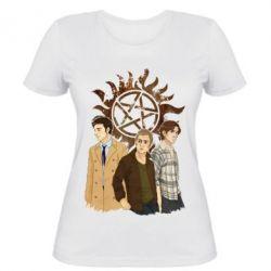 Женская футболка Дин, Сэм и Кас