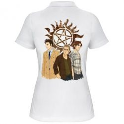 Женская футболка поло Дин, Сэм и Кас
