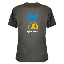 Камуфляжная футболка Єдина країна (два серця) - FatLine