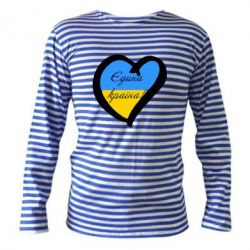Тельняшка с длинным рукавом Єдина країна Україна (серце) - FatLine