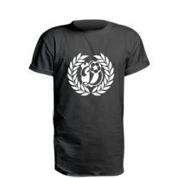 Удлиненная футболка Динамо Киев: мяч, колоски лого