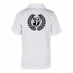 Детская футболка поло Динамо Киев: мяч, колоски лого