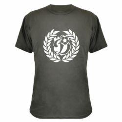 Камуфляжная футболка Динамо Киев: мяч, колоски лого