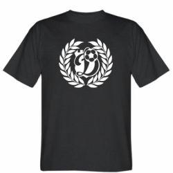 Мужская футболка Динамо Киев: мяч, колоски лого