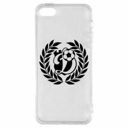 Чехол для iPhone5/5S/SE Динамо Киев: мяч, колоски лого
