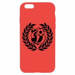 Чехол для iPhone 6/6S Динамо Киев: мяч, колоски лого