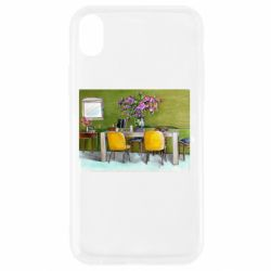 Чохол для iPhone XR Dining table with flowers