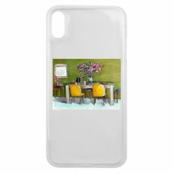 Чохол для iPhone Xs Max Dining table with flowers