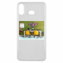 Чохол для Samsung A6s Dining table with flowers