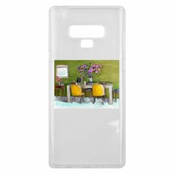 Чохол для Samsung Note 9 Dining table with flowers