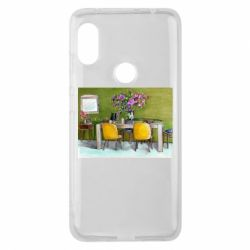 Чехол для Xiaomi Redmi Note 6 Pro Dining table with flowers
