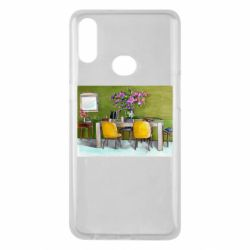 Чохол для Samsung A10s Dining table with flowers