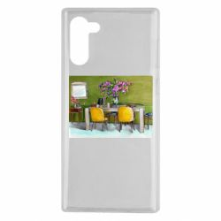 Чохол для Samsung Note 10 Dining table with flowers