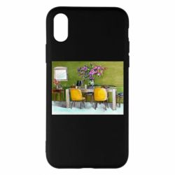 Чохол для iPhone X/Xs Dining table with flowers