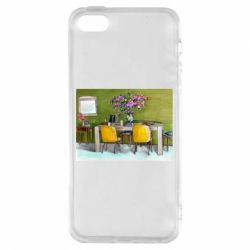 Чохол для iphone 5/5S/SE Dining table with flowers