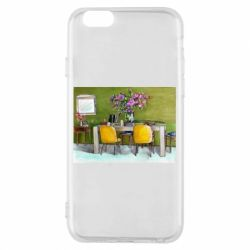 Чохол для iPhone 6/6S Dining table with flowers