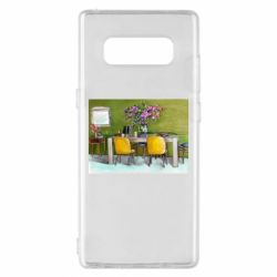 Чохол для Samsung Note 8 Dining table with flowers