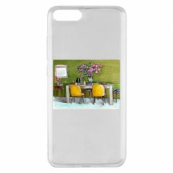 Чехол для Xiaomi Mi Note 3 Dining table with flowers