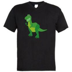 Мужская футболка  с V-образным вырезом Dino toy story