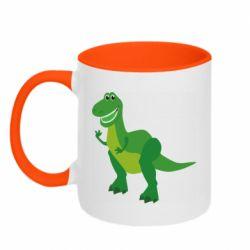 Кружка двухцветная 320ml Dino toy story
