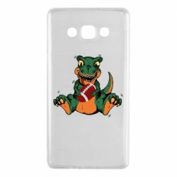 Чехол для Samsung A7 2015 Dinosaur and ball