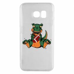 Чехол для Samsung S6 EDGE Dinosaur and ball