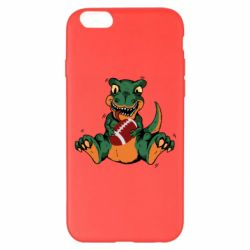 Чехол для iPhone 6 Plus/6S Plus Dinosaur and ball