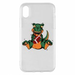 Чехол для iPhone X/Xs Dinosaur and ball
