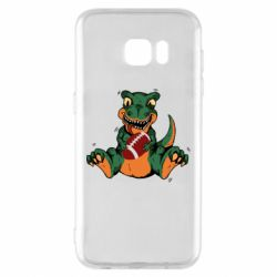 Чехол для Samsung S7 EDGE Dinosaur and ball