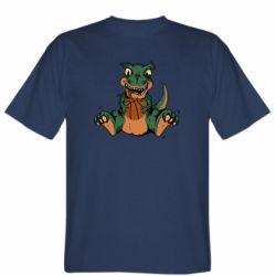 Мужская футболка Dinosaur and basketball