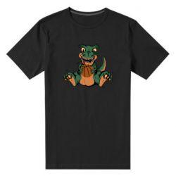 Мужская стрейчевая футболка Dinosaur and basketball