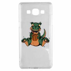 Чехол для Samsung A5 2015 Dinosaur and basketball