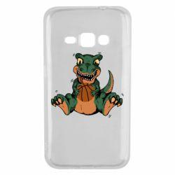 Чехол для Samsung J1 2016 Dinosaur and basketball