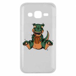 Чехол для Samsung J2 2015 Dinosaur and basketball