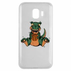 Чехол для Samsung J2 2018 Dinosaur and basketball