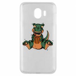 Чехол для Samsung J4 Dinosaur and basketball